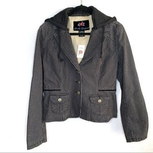 BB Dakota sz XL striped jacket with hood